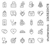 thin line icon set   mother day ... | Shutterstock .eps vector #1065820478