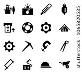 solid vector icon set  ... | Shutterstock .eps vector #1065820535