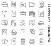 thin line icon set   clipboard... | Shutterstock .eps vector #1065822968