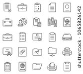 thin line icon set   stamp... | Shutterstock .eps vector #1065826142