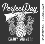 pineapple graphic with... | Shutterstock .eps vector #1065826625