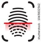 fingerprint scan icon as eps 10 ... | Shutterstock .eps vector #1065832562