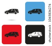car flat vector icon. crossover ... | Shutterstock .eps vector #1065836276