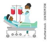 african american doctor... | Shutterstock .eps vector #1065839258