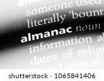 Small photo of almanac word in a dictionary. almanac concept.