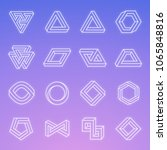 set of impossible shapes.... | Shutterstock .eps vector #1065848816