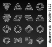 set of impossible shapes.... | Shutterstock .eps vector #1065848822