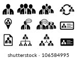 set of management icons | Shutterstock .eps vector #106584995