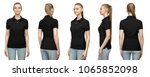 set promo pose girl in blank... | Shutterstock . vector #1065852098
