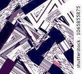 chevron background. zigzag... | Shutterstock . vector #1065855875