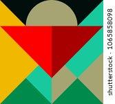 trendy minimalistic creative... | Shutterstock .eps vector #1065858098