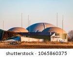 biogas plant for renewable... | Shutterstock . vector #1065860375