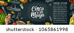 cinco de mayo lettering and... | Shutterstock .eps vector #1065861998