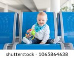 little child  baby boy  playing ... | Shutterstock . vector #1065864638