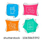set of cocktail  comment and... | Shutterstock .eps vector #1065865592