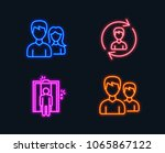 neon lights. set of human...   Shutterstock .eps vector #1065867122