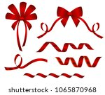 set of decorative beautiful red ... | Shutterstock .eps vector #1065870968