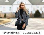 young beautiful vogue model...   Shutterstock . vector #1065883316