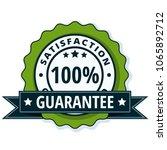 100  satisfaction guaranteed... | Shutterstock .eps vector #1065892712
