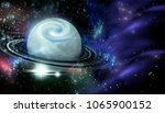 open space  planet and galaxies | Shutterstock . vector #1065900152
