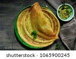 pesarattu dosa   indian... | Shutterstock . vector #1065900245