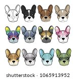set of the cute multicolored... | Shutterstock .eps vector #1065913952