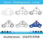 drawing lesson for children.... | Shutterstock .eps vector #1065915908