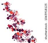 rhombus frame minimal geometric ... | Shutterstock .eps vector #1065918125