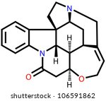 strychnine  a highly toxic... | Shutterstock .eps vector #106591862