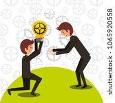 business people work | Shutterstock .eps vector #1065920558