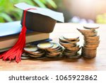 pile coins on table for concept ... | Shutterstock . vector #1065922862