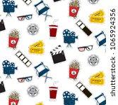 vector flat cinema stickers... | Shutterstock .eps vector #1065924356