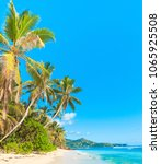 bright holiday on a sunny beach  | Shutterstock . vector #1065925508