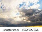 summer heavens cloudscape... | Shutterstock . vector #1065927368