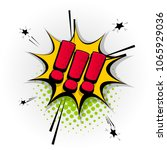 exclamation point hand drawn...   Shutterstock .eps vector #1065929036