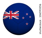 New Zealand Flag Pattern 3d rendering of a soccer ball - stock photo