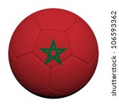 Morocco Flag Pattern 3d rendering of a soccer ball - stock photo