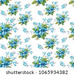 seamless flower pattern ... | Shutterstock . vector #1065934382