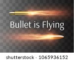 a flying bullet with a fiery...   Shutterstock .eps vector #1065936152