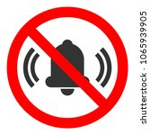 no sound round crossed out sign.... | Shutterstock .eps vector #1065939905