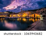 scenic coast of town hvar at... | Shutterstock . vector #1065943682