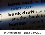 bank draft word in a dictionary.... | Shutterstock . vector #1065959222