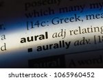 Small photo of aural word in a dictionary. aural concept.
