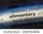 Small photo of alimentary word in a dictionary. alimentary concept.