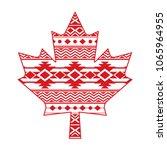 a unique canadian maple leaf... | Shutterstock .eps vector #1065964955