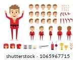 martial arts  karate master in... | Shutterstock .eps vector #1065967715