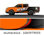 truck graphic. simple curved... | Shutterstock .eps vector #1065979055