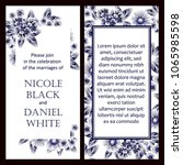 invitation with floral... | Shutterstock . vector #1065985598