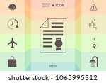 warranty sheet of paper with a... | Shutterstock .eps vector #1065995312