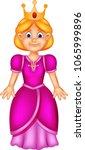 beauty queen cartoon standing... | Shutterstock .eps vector #1065999896